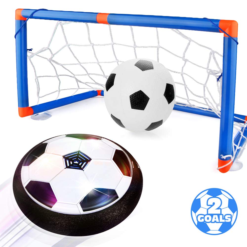 Blasland Kids Toys Hover Soccer Ball Set - Air Soccer Ball, Hovering Soccer Ball, Indoor Floating Soccer, LED Light and Foam Bumper, an Inflatable Ball Included, Sports Ball Game Toys for Boys Girls by Blasland