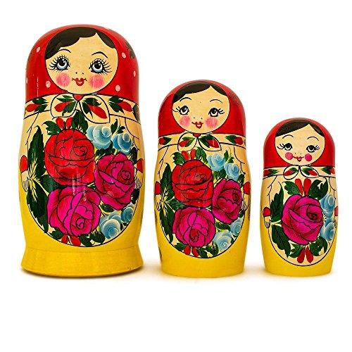 BestPysanky Set of 10 Traditional Semenov Russian Nesting Dolls Matryoshka 10 Inches by BestPysanky (Image #3)