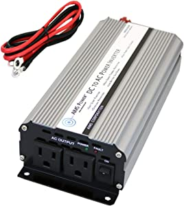 AIMS Power 800 Watt Modified Sine Power Inverter with Battery Cables, 1600 Watt Surge Peak Power, and AC Outlets.
