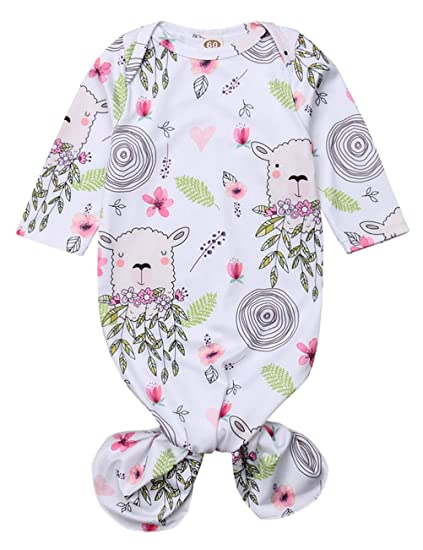 0a23bdc545897 Newborn Baby Girl Floral Gown Coming Home Outfit Baby Girl Gift (Alpaca +  Floral,