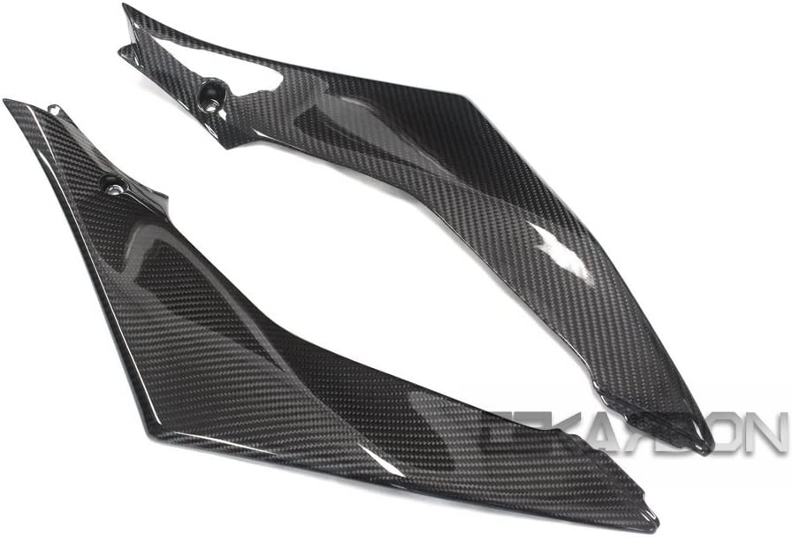 2x2 Twill Weave for Suzuki GSXR 1000 Carbon Fiber Side Tank Panels Tekarbon 2007-2008