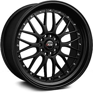 XXR 521 17 Flat Black Wheel / Rim 5x100 & 5x4.5 with a 38mm Offset and a 73.1 Hub Bore. Partnumber 52177102