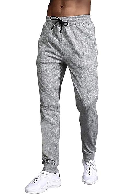 EKLENTSON - Pantalones de chándal para Hombre (Forro Polar, con ...