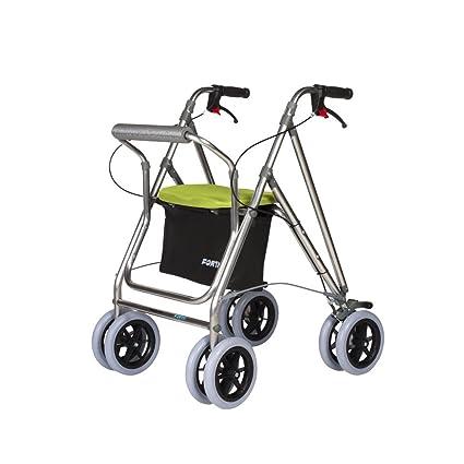 Andador para ancianos | Rollator de aluminio | Andador on frenos y asiento | De aluminio