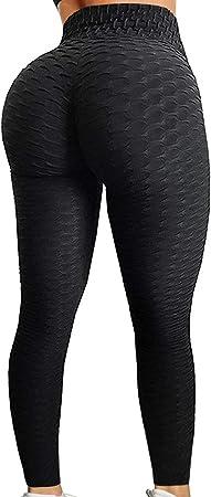 Amazon.com: HURMES - Mallas de yoga con textura de cintura ...