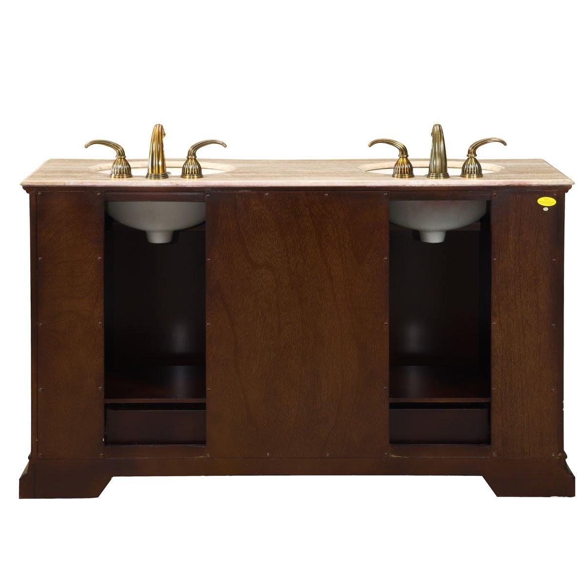60 in bathroom vanity double sink. Amazon com  Silkroad Exclusive Bathroom Vanity HYP 0712 T UIC 60 Samantha Home Kitchen