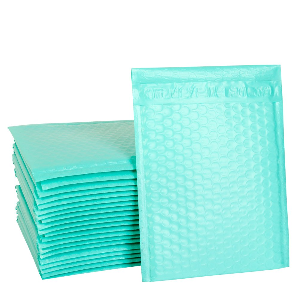 UCGOU 6 x 10 Teal Poly Bubble Mailers Padded Envelopes Self Seal Envelopes Bags Pack of 50