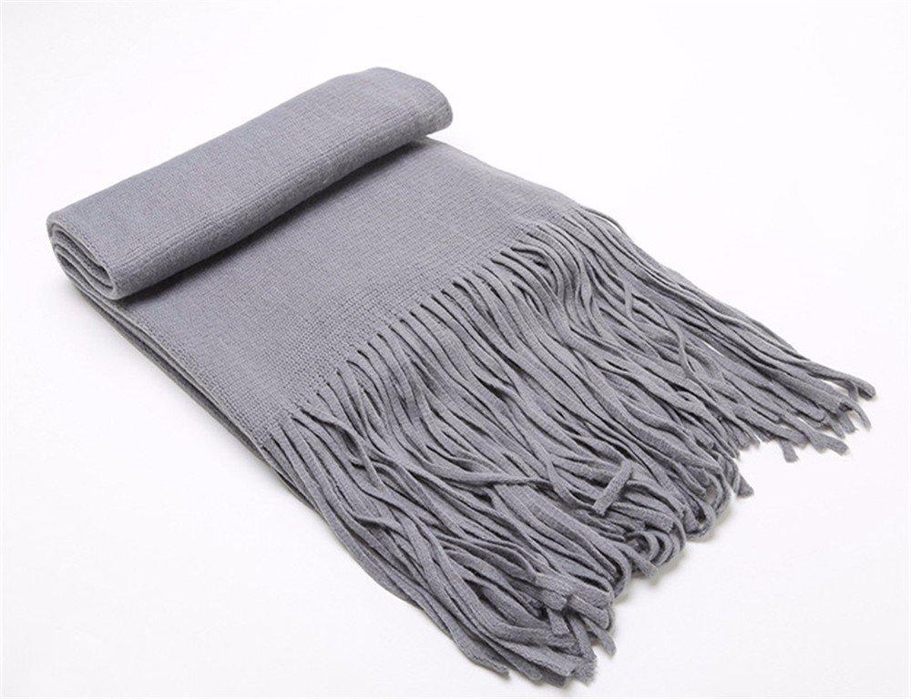DIDIDD Bufanda-hombre en otoño e invierno engrosamiento de tejer bufandas borlas bufanda,A
