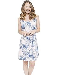 Cyberjammies 4104 Women s Isla White Leaf Print Night Gown Loungewear  Nightdress 5b90878ed