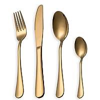 HOMQUEN Gold Besteck Besteck Set Geschirr Set (T88WSG)