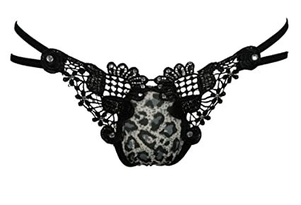 Baron W.H Bragas de Las Señoras de la Cintura Baja del Cordón Transparencia Sexy Tanga Perla