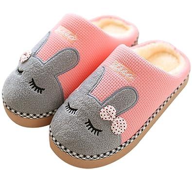 1 Paire Unisexe Grands Pieds Chaud Confortable Pantoufles Hiver De Coton BfWWO5YK