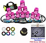 Speed Stacks Combo Set ''The Works'': 12 ZIPPY LEOPARD 4'' Cups, REBEL MUDD Gen 3 Mat, G4 Pro Timer, Cup Keeper, Stem, Gear Bag, 6 Snap Tops + Active Energy Necklace
