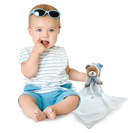 Amazon.com: Huggybuddy Stuffed Animal Plush Security Blanket Lovey Bear Blanket Best Gift for Newborn/Infant (Blue, 14.6
