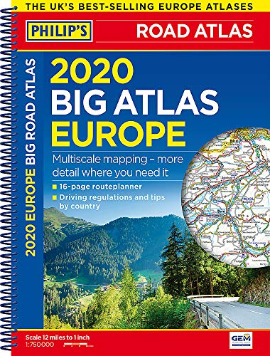 Philip's Big Road Atlas Europe: Spiral A3: (A3 Spiral binding) (Philips Road Atlas)