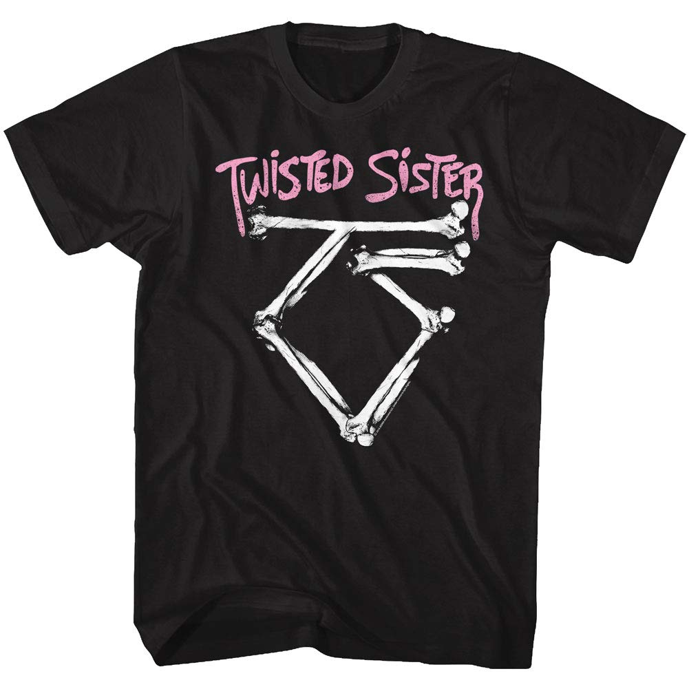 Twisted Sister Heavy Metal Band Bad To The Bone Logo Adult T Shirt Tee