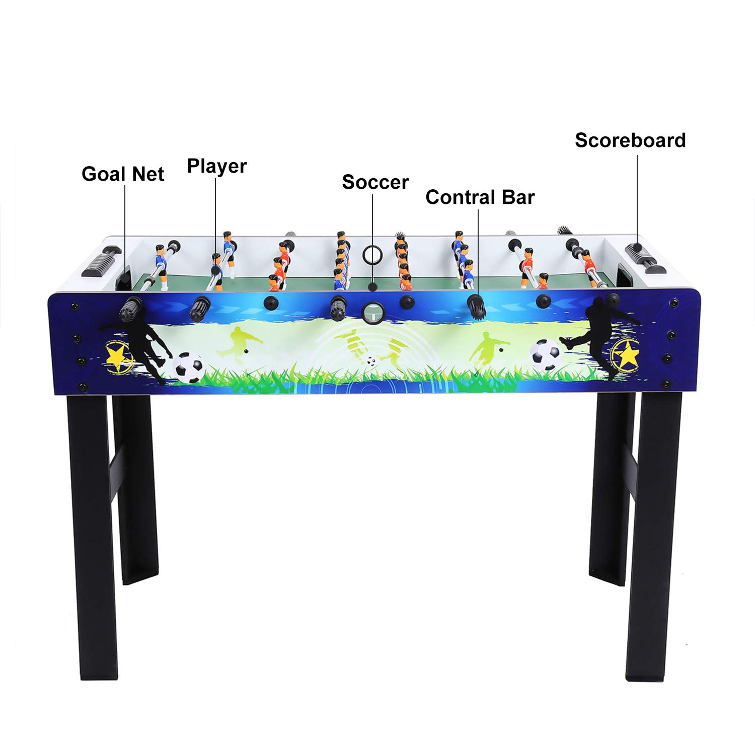 ANCHEER 48'' Foosball Table Soccer Table Arcade Game Room Football Table Sports Game for Kids& Adults- Indoor&Outdoor by ANCHEER (Image #8)
