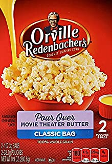 product image for Orville Redenbacher's Pour Over Movie Theater Butter 2 Count Classic Bag (3 Boxes - 6 TOTAL Bags)