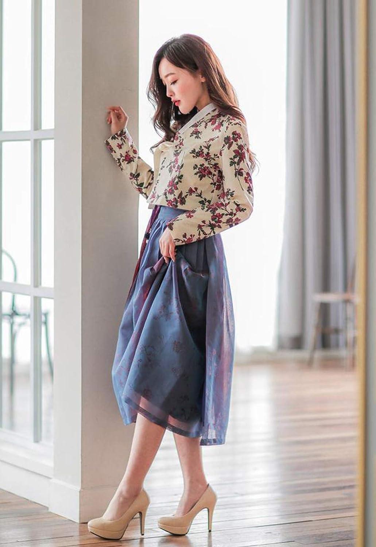 TETEROT SALON Peaceful \ud3c9\ud654\ub85c\uc6b4 Women/'s Wrap Skirt Hanbok Korean Vintage Party Maxi Midi Long Skirt