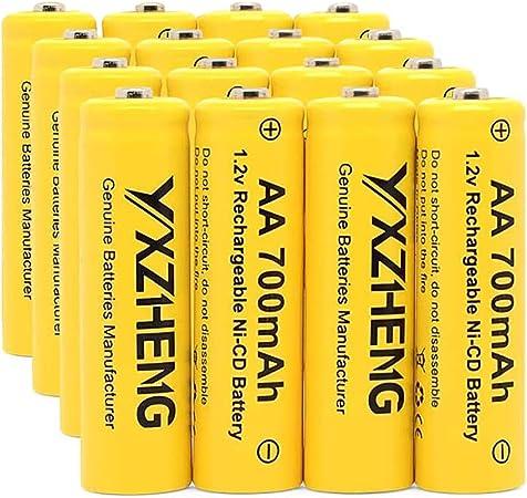 20 Pilas Recargables AA NiCd 700 mAh 1,2 V para Luces ...