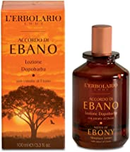 L'Erbolario Aftershave Lotion Notes of Ebony 3.3 Fl Oz Fresh Citrus Woody