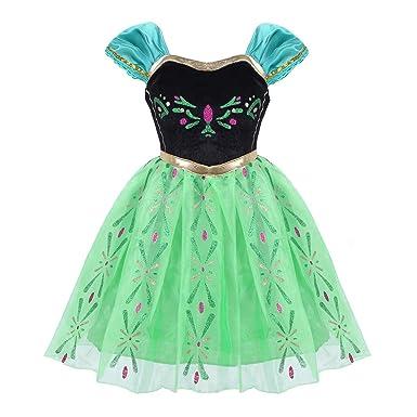 f06c36746e4 Alvivi Déguisement Petites Filles Robe Princesse Enfant Costumes Costume  Halloween Robe de Soirée Photographie Cérémonie Anniversaire