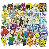 Pokémon Laptop Stickers, Cute Cartoon Vinyl Computer Waterproof Water Bottles Skateboard Luggage Decal Graffiti Patches Decal 45Pcs Pack