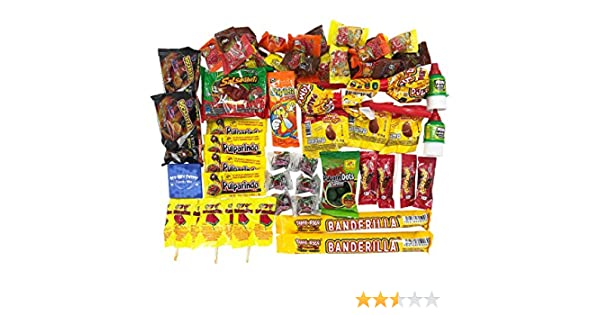 Caja de Dulces Mexicanos Surtidos. Mexican Candy Box Assortment Snacks. Includes Mexican Candies From Your Favorites Such as Rebanaditas, Rellerindos, ...