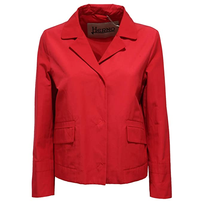 Herno 7872X Giubbotto Donna Red FOR Spring Jacket Woman: Amazon.es: Ropa y accesorios