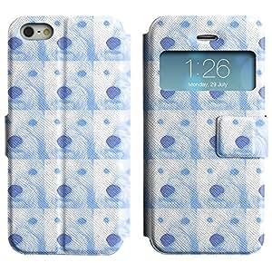 LEOCASE círculos lindos Funda Carcasa Cuero Tapa Case Para Apple iPhone 5 / 5S No.1006580