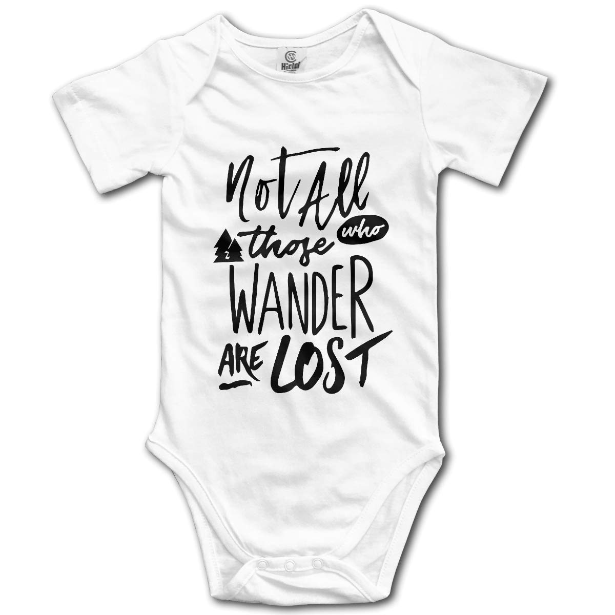 Not All Who Wander are Lost Baby Romper 0-18 Months Newborn Baby Girls Boys Layette Rompers Gray