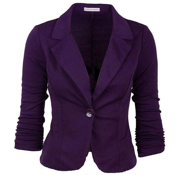 cb050cdc512b Betrothales Moda Blazer Primavera Chaquetas Mujer Oeste Botón ...