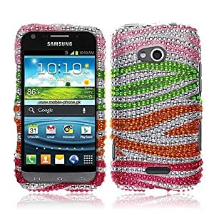 NextKin Bling Crystal Full Rhinestones Diamond Case Protector For Samsung Gogh Galaxy Victory 4G LTE L300, Colorful...