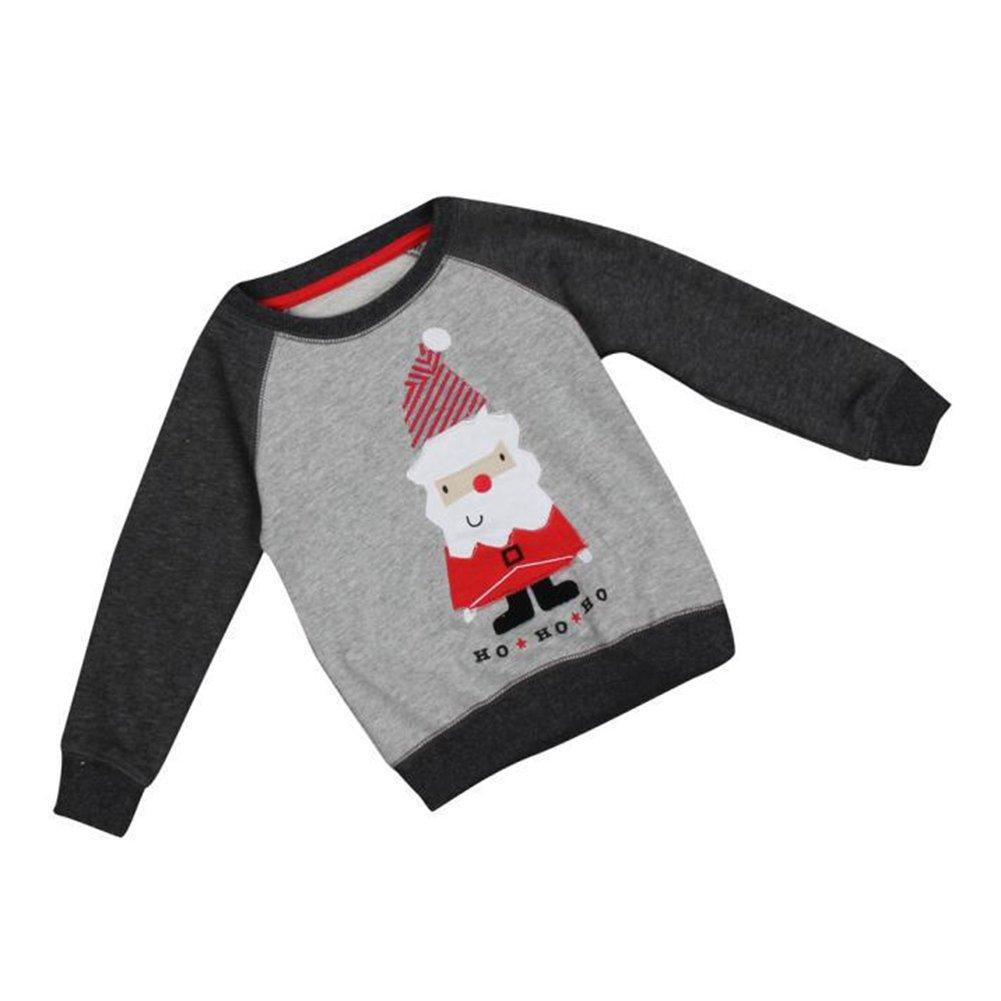 Maglione dei neonati di Natale, hibote Santa ricama maglioni a maniche lunghe per i ragazzi M171018SDWY-X
