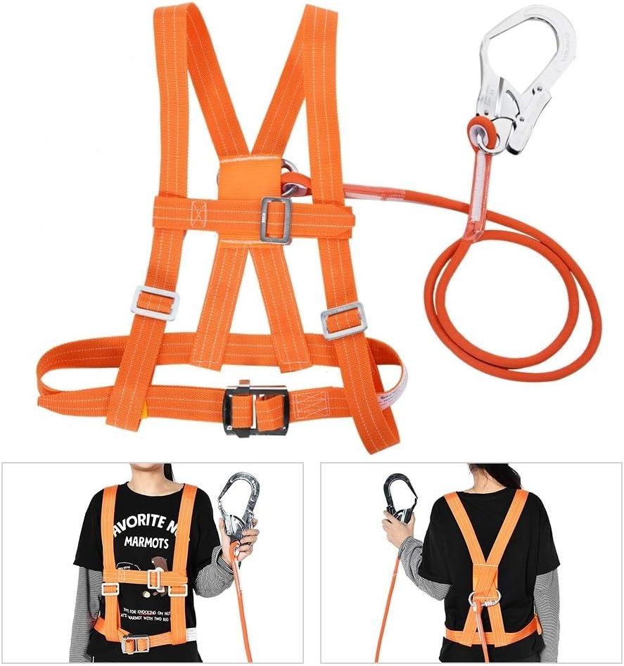 Arnés Anticaidas Arnes, MAGT aérea trabajo del cinturón de seguridad Subida al aire libre ajustable del arnés del cinturón de seguridad cuerda de ...