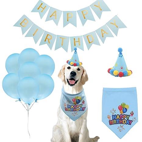 Amazon.com: PUPTECK 16 unidades – Bandana de cumpleaños para ...