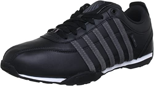 K Swiss Arvee 1.5 Black Grey Mens Leather Trainers Shoes