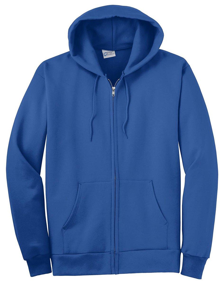 Port & Company Men's Big and Tall Full-Zip Hooded Sweatshirt Royal