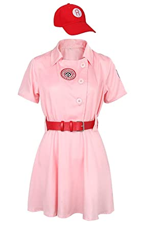 SuperheroCos Rockford Peaches AAGPBL Baseball Costume for Adult and Girls Dress  sc 1 st  Amazon.com & Amazon.com: SuperheroCos Rockford Peaches AAGPBL Baseball Costume ...