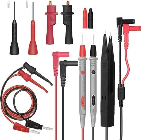 Multimeter Test Pen Leads Silicone Wire Cable Line+Crocodile Clip Accessory MR