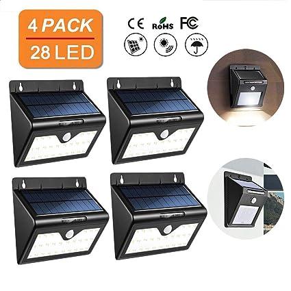 EFGS 28 LED De Luz Solar/Luz De Seguridad Solar/Sensor De Movimiento De