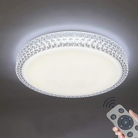 Deckenlampe Wohnzimmer LED mit Fernbedienung 48W Deckenleuchte Dimmbar