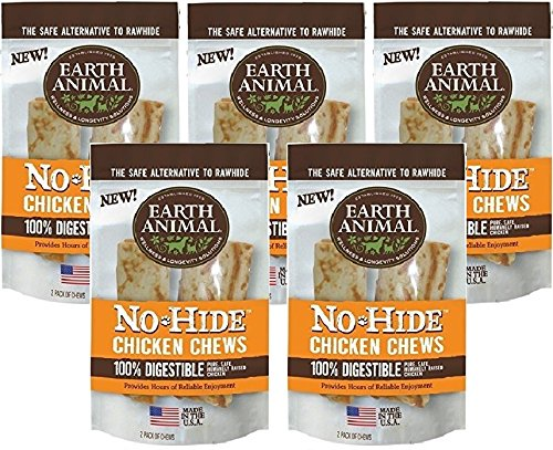 Earth Animal No-Hide Chicken Chew, 7-Inch (5 Packs / 2 Chews Per Pack)