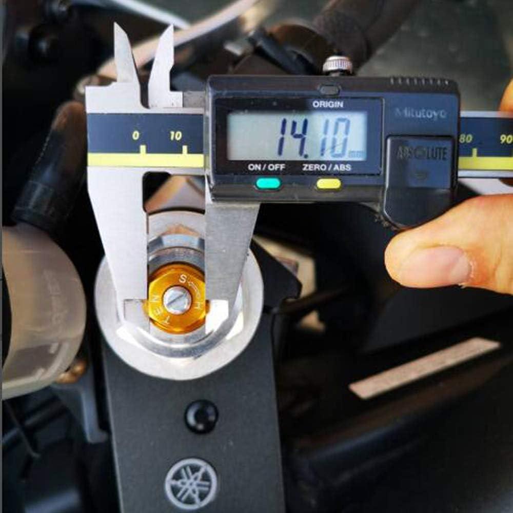 BLACK Motorcycle 14mm CNC Aluminum Suspension Fork Preload Adjusters For YAMAHA MT-09 MT09 Tracer//Tracer 900
