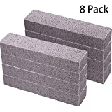 Pumice Stones for Cleaning - Pumice Scouring Pad, Grey Pumice Stick Cleaner for Removing Toilet Bowl Ring, Bath, Household, Kitchen, Pool, 5.9 x 1.4 x 0.9 Inch (8 Pieces)