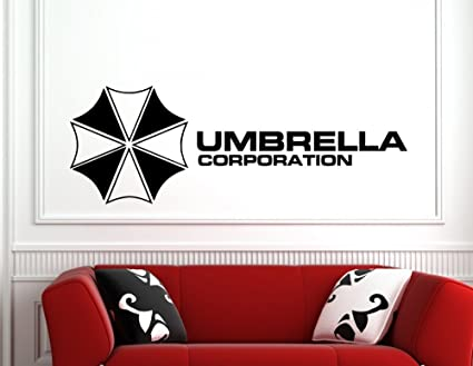 Pared Adhesivo Umbrella Corporation, vinilo, negro, medium