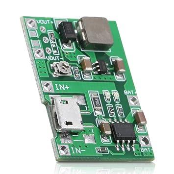 Placa de cargador de batería de litio de 3.7V a 9V 18650 DC ...