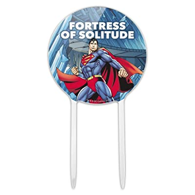 GRAPHICS & MORE Acrylic Superman Fortress of Solitude Cake Topper Party Decoration for Wedding Anniversary Birthday Graduation: Kitchen & Dining