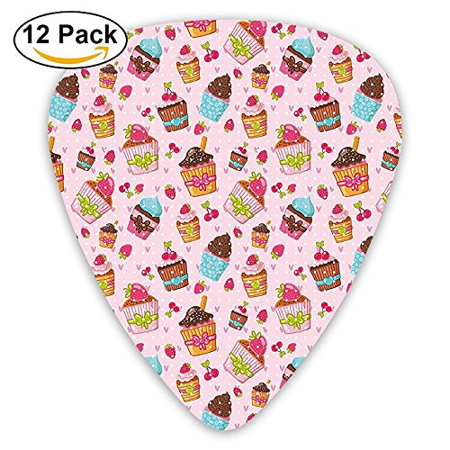 Newfood Ss Kitchen Cupcakes Muffins Strawberries And Cherries Guitar Picks 12/Pack Set