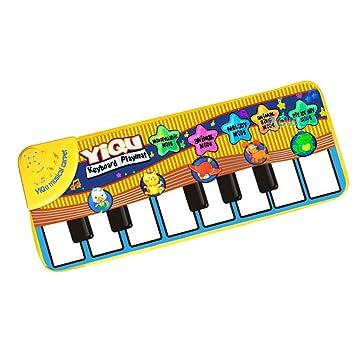 TOYANDONA Teclado de Piano Estera de Juego para niños pequeños bebés (sin batería): Amazon.es: Hogar